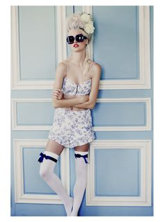 "The Look: Marie Antoinette - ""Fit For a Queen"" Wildfox Couture lookbook"