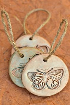 Farfalla argilla ciondolo