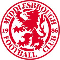 Middlesbrough Football Club, I've been supporting them for over 30 years. Football Team Logos, Football Soccer, Football Players, Middlesbrough England, Badges, Soccer Art, British Football, Badge Design, Logo Design