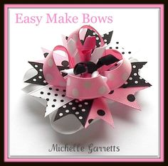 Free Hair Bows Instructions | accessories baby boutique bow bows clips craft crafts custom easy