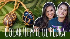 DIY: Como fazer colar de pedra hippie | Colar macrame