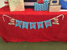 Dr. Seuss Gifts Banner, Cat In The Hat Baby Shower/Birthday Banner, Gift Banner.