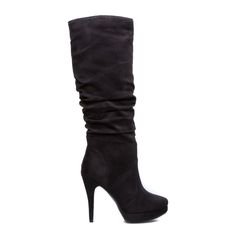Izabel is an irresistibly plush boot that combines sexy slouch, towering height and plenty of kick; this shoe calls for an LBD and cropped moto jacket for girls' night out.