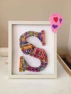 Crayon Craft Project Tutorials....this crayon letter would be cute for in Gracie's room!!