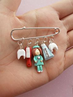 Dentist Gift for Women – Personalized Dentist Gift Graduation – Dental Hygienist Gift – Dental Assistant – Dental Hygiene Gift – Top Of The World Cute Polymer Clay, Cute Clay, Polymer Clay Charms, Diy Clay, Clay Crafts, Dental Jewelry, Clay Jewelry, Dental Art, Dental Logo