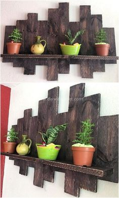 Get this interesting pallet plan that will give you a magical beauty for your place. This pallet rack is simply a beginner-friendly idea. Pallet Furniture Plans, Pallet Furniture Designs, Wooden Pallet Projects, Pallet Designs, Pallet Crafts, Wooden Pallets, Diy Furniture, Pallet Chair, Pallet Patio
