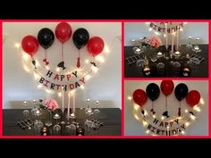 Easy Surprise Birthday Decoration For Husband - Party Decorations. Easy Surprise Birthday Decoration For Husband – Party Decorations. Husband Birthday Decorations, Surprise Party Decorations, Husband Birthday Parties, Birthday Surprise For Husband, Birthday Party At Home, Birthday Balloon Decorations, Anniversary Decorations, Room Decoration For Birthday, Diy Birthday Ideas For Husband