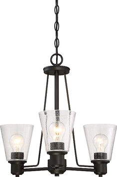 Selinsgrove 3 Light Shaded Chandelier Finish Oil Rubbed Bronze