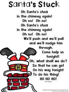Santa's Stuck!  A Christmas poem for kindergarten!  Santa poem!