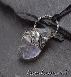 Beach Jewellery, Colour Stone, Angel Aura Quartz, Soldering, Metal Chain, Stone Pendants, Leather Cord, Crystal Jewelry, Tiffany