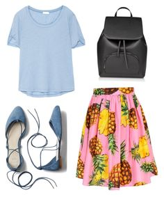 """""""The skirt would go over the shirt"""" by abigailrenea on Polyvore featuring Splendid, Dolce&Gabbana and Gap"""
