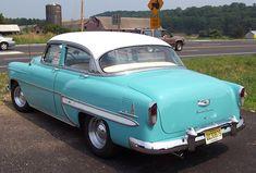 1953 Chevrolet Bel Air--Blue & White 4 Door Sedan