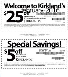 Kirklands Coupons PROMO expires June 2020 Hurry up for a BIG SAVERS Kirklands is a retail chain with more than 300 stores in more than