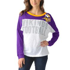 Minnesota Vikings Women's Ralph Long Sleeve T-Shirt - Purple