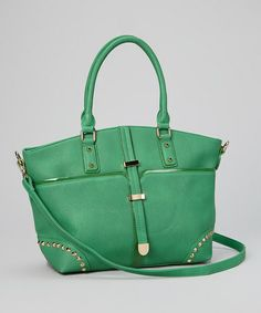 Take a look at this Green Belted Tote by Segolene Paris!  Segolene Paris Green Belted Tote  original $149.00 now $43.99  http://www.zulily.com/invite/llabelle468