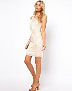 Imagen 4 de Vestido ajustado de encaje de Oasis