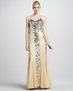 8865e583ed2 Spaghetti-Strap Sequined Gown by Faviana at Neiman Marcus.