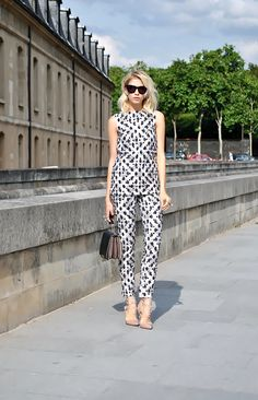 Two piece with Valentino shoes in Milan. Bellissima.