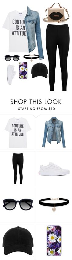 """""""Aesthetic 1"""" by that-fashionista-girl ❤ liked on Polyvore featuring Moschino, LE3NO, Boohoo, Vans, Ace, Betsey Johnson and rag & bone"""