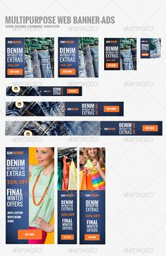 Web Banners-Ads Template PSD | Buy and Download: http://graphicriver.net/item/web-bannersads/5579258?WT.ac=category_thumb&WT.z_author=amode&ref=ksioks