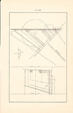 So easy to see the construction on a proper cutaway drawing easier 1885 technical drawing antique math geometric mechanical drafting interior design blueprint art illustration framing 100 years old malvernweather Gallery