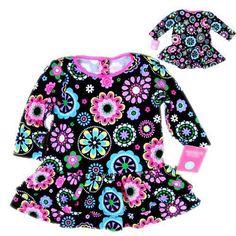 Baby girls dress Floral frock Little girls dress cotton new designer casual kid clothes party rustic fantasia infantil vestito