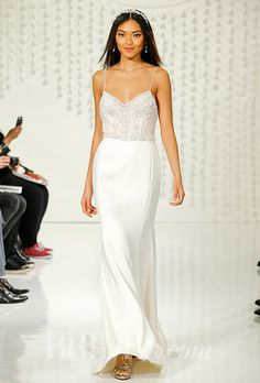 The jeweled bodice on this @watterswtoo wedding dress is lovely | Brides.com