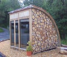 small camping pod or garden office room