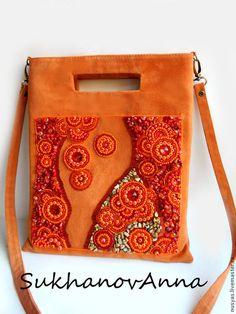 64c970e1a543 Купить или заказать Сумка 'Оранжевый закат' в интернет-магазине на Ярмарке  Мастеров. Сумка выполнена из оранжевой натуральной замши.