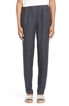 Free shipping and returns on Eileen Fisher Organic Linen Slouchy Pants (Regular & Petite) at Nordstrom.com. Lightweight organic linen lends soft and breathable comfort to easygoing pants in a relaxed cut that tapers to a narrow ankle.