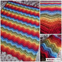 craftingwithfelicity Annnnnd it's complete!! Took me exactly two weeks from start to finish a throw-sized blanket ideal for a children's room or to add a splash of cheerful colour to any room! This blanket will be available for sale when my Etsy Shop opens!!  ----- #yarn #wool @stylecraftyarns #stylecraft #stylecraftyarn #rainbow #crochet #crocheting #crocheted #crochetaddict #crochetlove #instacrochet #lovecrochet #craftastherapy #bhooked #ilovecrochet #ripple #crochetripple #attic24…