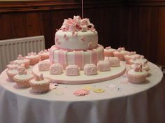 My niece's christening cake Christening Decorations, Christening Party, Cake Recipes, Dessert Recipes, Desserts, Baptism Ideas, Pretty Cakes, Frostings, How To Make Cake