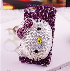 8ad6f4a8c pics of cute phone cases   3D cute hello kitty face bling cell phone case  for