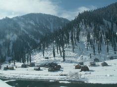 This is the snow falling recently in Neelum Valley Azad Kashmir the scene also having the River Neelum what an awesome beauty its Stunning