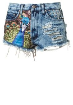 BamBam Peacock Jeans Shorts