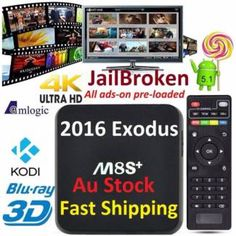 M8S+ PLUS 2016 JailBronek Version with Exodus Tv Box AU Plug | Other Electronics & Computers | Gumtree Australia Manningham Area - Doncaster | 1117139507
