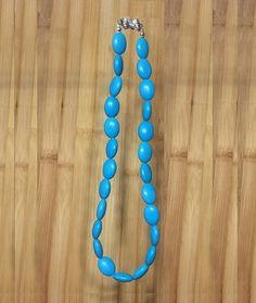 18mm Blue  Oval Turquoise Gemstones Threaded Handmade Necklace, Healing Protection Yoga Zodiac Scorpio Sagittarius Aquarius Pisces Necklace by ArtGemStones on Etsy
