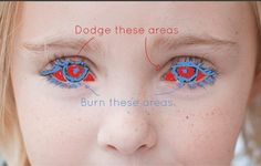 Use the Dodge and Burn tool to get sparkling eyes. | 21 Incredibly Simple Photoshop Hacks Everyone Should Know