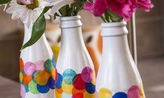 Aprenda a seguir como fazer artesanato simples com garrafa de vidro passo a passo, para decorar a su