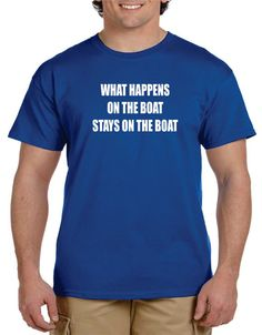 Funny tshirt Fishing Gifts What HAPPENS On The BOAT by gulftees