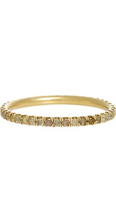 Zoe Opaque Champagne Diamond & Gold Eternity Band -  - Barneys.com