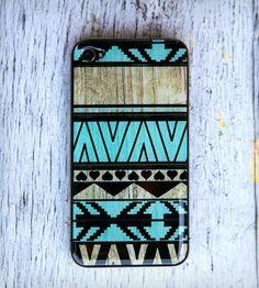 Mint Aztec Print 3D Gel Skin for iPhone