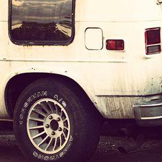 by colando, via Flickr | retro vintage 1970's + car truck van + mag wheels + brown grey ivory white + iphoneography