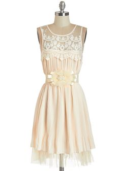 Exuberant Attitude Dress. Its easy to show off your verve for life when you head to the party in this exquisite cream dress! #cream #modcloth