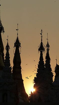 Birmanie - Envol et coucher