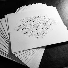 Ornamental Penmanship Connected Alphabet Print 8x10