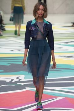 Jourdan Dunn burberry prorsum fashion show s/s 2014/2015