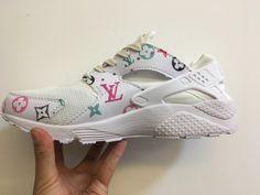 4fd9cea71db9 2018 Hot Sale Nike Air Huarache Louis Vuitton White April 2018 New Arrival