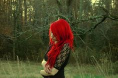 i would LOVE for my hair to be this red but the up-keep would be traumatizing