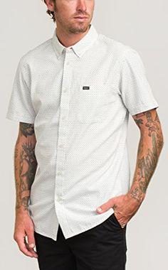 RVCA Men's That'll Do Crosses Short Sleeve Woven Shirt